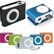 Mini MP3 Player With Earphone Free- Multicolour