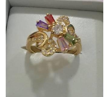 Multicolour Stone Setting Ladies Finger Ring