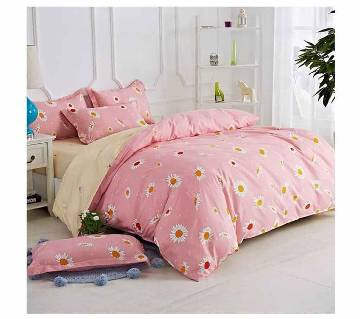 Poly-Cotton Double Size Bed Sheet Set - 4 Pieces