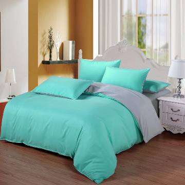 Poly Cotton Fabric Double Size Bed sheet Set - 4pcs