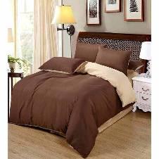 Poly Cotton Double Bed Sheet Set (4 pcs)