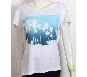 Ladies Half sleeve cotton t-shirt