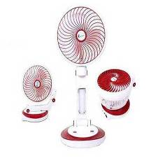Rechargeable Fan with LED Lights
