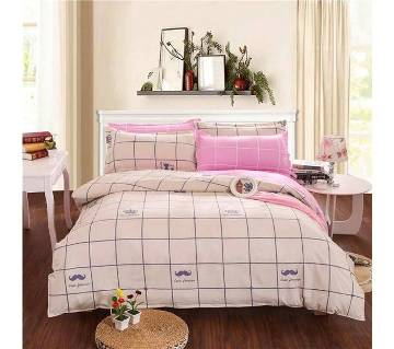 Poly Cotton Fabric Double Size Bed sheet Set
