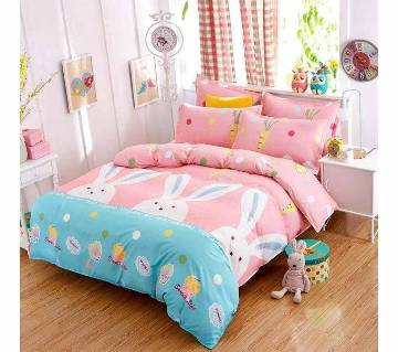 Poly Cotton Fabric Double Size Bed sheet Set - 4 pieces