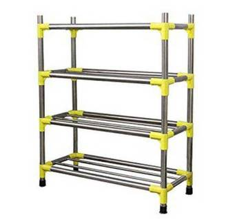 4 Layers Stainless Steel Shoe Rack