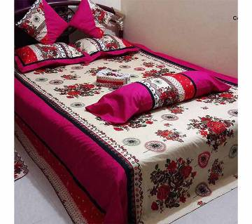 Double size cotton 8 pieces bed sheet set