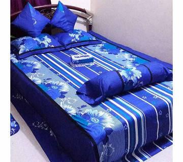 Double size cotton 8 pieces bed sheet set