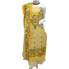 Unstitched Embroidery Cotton Dress
