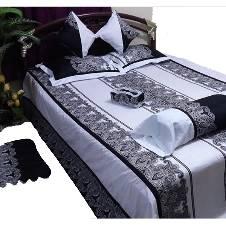 Designer Bed Sheet 8 Pieces Set