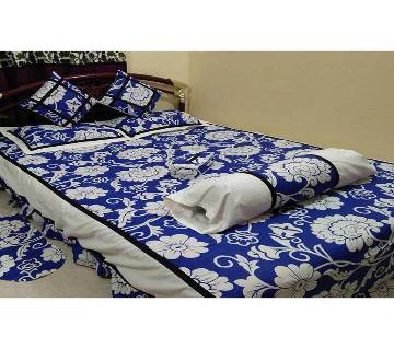 Double size cotton 8 pieces bed sheet