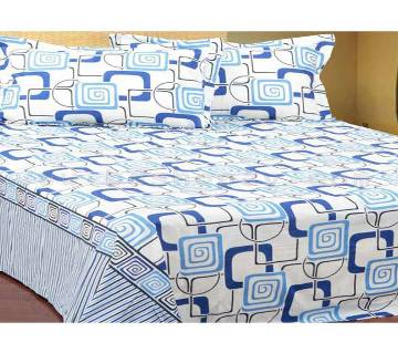 Bed Sheet with Two Pillow Cover