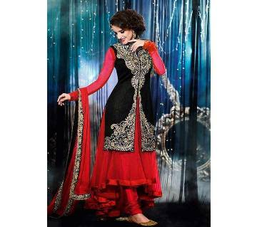 semi stitched Georgette embroidery long dress copy