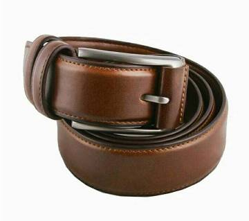 Formal leather belt for men