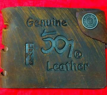 501 Levis regular shaped leather wallet for men-copy