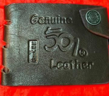501 levis regular shaped leather wallet for men- copy