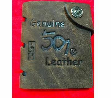501 levis bag regular shaped leather wallet for men- copy