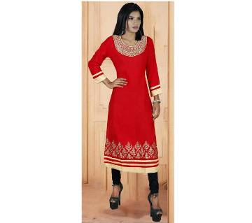 Ladies Readymade Long Linen Kurti