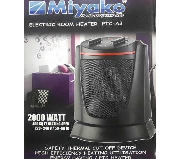 Miyako Electric Room Heater PTC (A3-Black