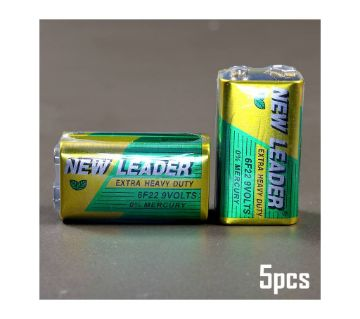 New Leader 9V Battery - 5 Pieces