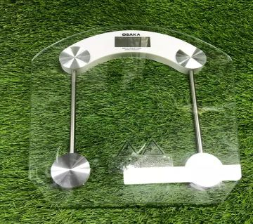 OSAKA Digital Transparent Weight Machine - 210kg capacity with battery. KG, LB & Off switch