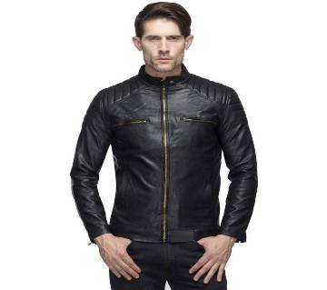 PU Leather Jacket Full Sleeve For Gents
