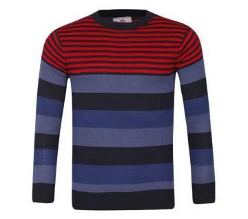 Aanitex Multi Color Cotton Sweater For Men