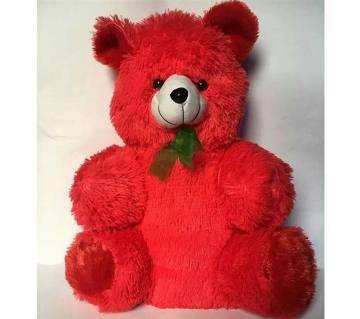 woolen Pink-Red Teddy Bear