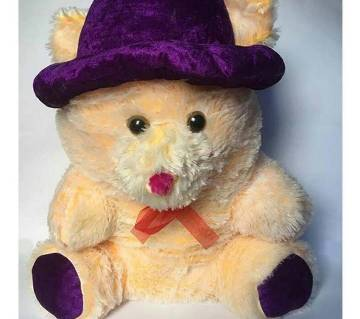 Woolen Cream color giant Teddy with Hat