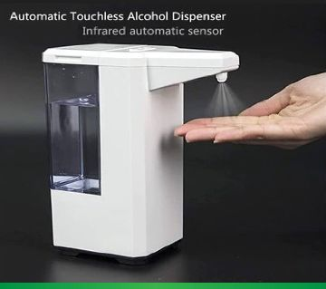 Automatic alcohol hand sanitizer dispenser