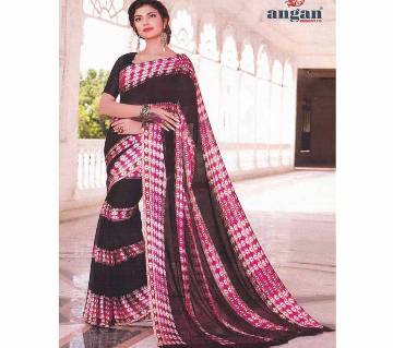 Printed Indian Georgette Silk Sharee