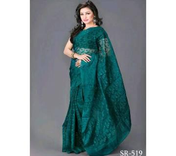 Muslin Jamdani Saree With Blouse Piece