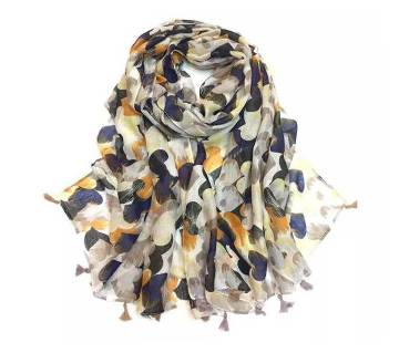 cotton+ linen mixed tassel hijab