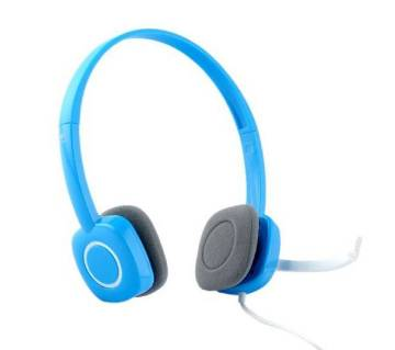 Logitech H150 Headphone - Blue and White