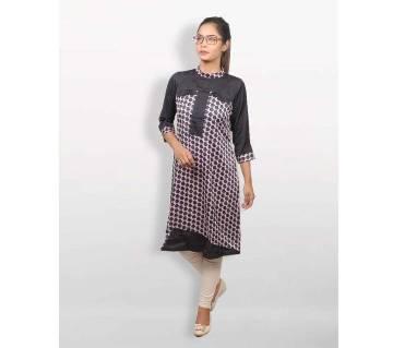 Black Shamu Silk Kurti for Women