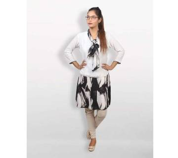 Black And White Georgette Top for Women