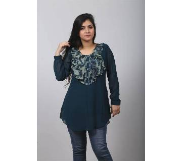 Navy Blue Georgette Tops for Women