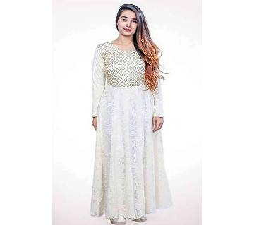White Cotton Gown for Women