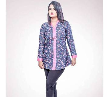 Blue Printed Georgette Tops for Women