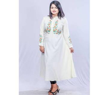 Off white Linen Kurti for Women