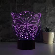 Butterfly LED 3D Illusion Lamp