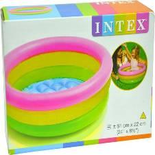plastic Intex Water Tub Inflatable Pool 2ft Diameter Baby Bath Set (Multi-color)