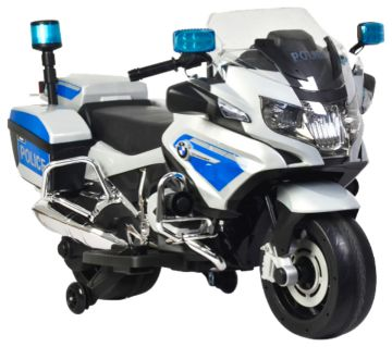 Rechargeable BMW Kids Bike Police Version- Silver