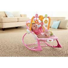 Plastic Metal Infant-to-Toddler Rocker Baby Trolley - Pink