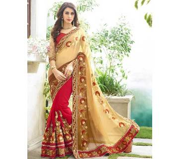 Indian embroidery weightless Georgette sharee