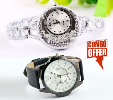 Combo of Couple Analog Watch