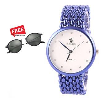 Rolex Copy) waterproof watch with Sunglass