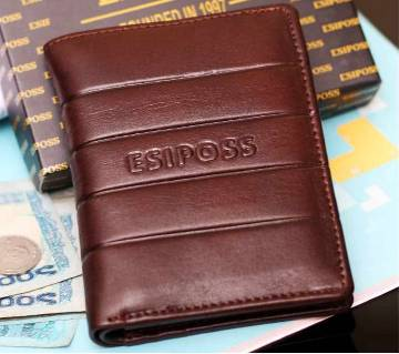 Gents leather made regular shaped wallet