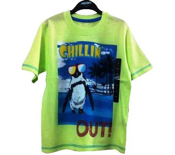 Chillin Out Kids Round Neck T-Shirt