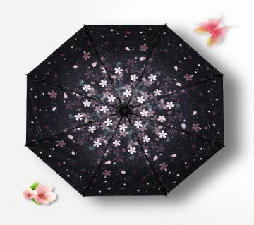 Cherry-to-Folded umbrella printed